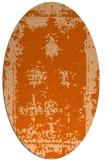 rug #1087250   oval red-orange borders rug