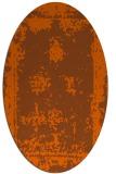 rug #1087254 | oval red-orange graphic rug