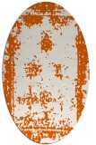 rug #1087258   oval red-orange borders rug