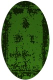 rug #1087262 | oval light-green graphic rug