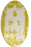 rug #1087270 | oval white faded rug