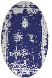 rug #1087275   oval faded rug