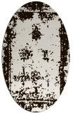 rug #1087278   oval brown damask rug