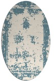rug #1087286 | oval white faded rug