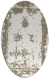 rug #1087290 | oval white faded rug