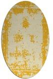 rug #1087294 | oval yellow damask rug