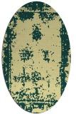 rug #1087310 | oval yellow damask rug