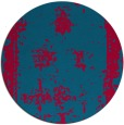 rug #1087838   round blue-green borders rug