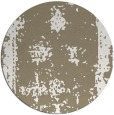 rug #1087874 | round mid-brown damask rug