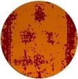 rug #1087918 | round red-orange borders rug