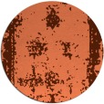 rug #1087930 | round red-orange borders rug