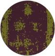 rug #1087954 | round green damask rug