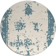 rug #1088022 | round white faded rug