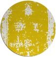 rug #1088038 | round yellow damask rug