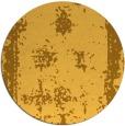 rug #1088042 | round light-orange faded rug