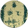 rug #1088046 | round yellow damask rug
