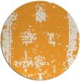 rug #1088078 | round light-orange faded rug