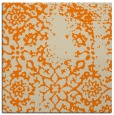 rug #1088450 | square orange damask rug