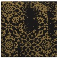 rug #1088478 | square black damask rug