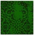 rug #1088510 | square green damask rug