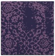 rug #1088550 | square blue-violet damask rug