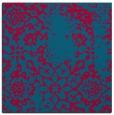 rug #1088574 | square blue-green damask rug