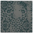 rug #1088582 | square blue-green damask rug