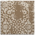 rug #1088606 | square mid-brown damask rug