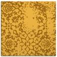 rug #1088778 | square yellow damask rug