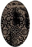 rug #1088830 | oval black natural rug