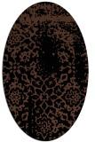 rug #1088834   oval brown damask rug