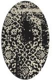 rug #1088842   oval black damask rug