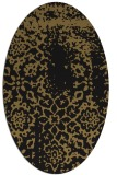 rug #1088846 | oval brown damask rug