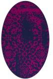 rug #1088854 | oval blue faded rug