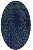 rug #1088858 | oval blue faded rug
