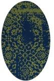rug #1088862 | oval green traditional rug