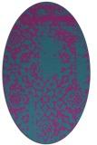 rug #1088902 | oval pink rug