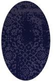 rug #1088906   oval blue-violet faded rug