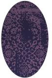 rug #1088918   oval purple faded rug