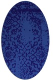 rug #1088922 | oval blue-violet damask rug