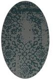 rug #1088950 | oval green traditional rug