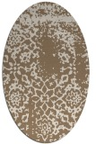 rug #1088974 | oval beige faded rug