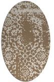 rug #1088974 | oval mid-brown faded rug