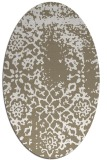 rug #1088978 | oval white faded rug