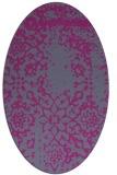rug #1088987 | oval faded rug