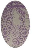 rug #1089002   oval purple damask rug