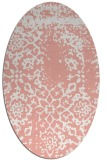 rug #1089050 | oval white faded rug