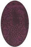 rug #1089054 | oval purple damask rug