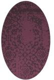 rug #1089055 | oval damask rug