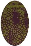 rug #1089058 | oval green damask rug